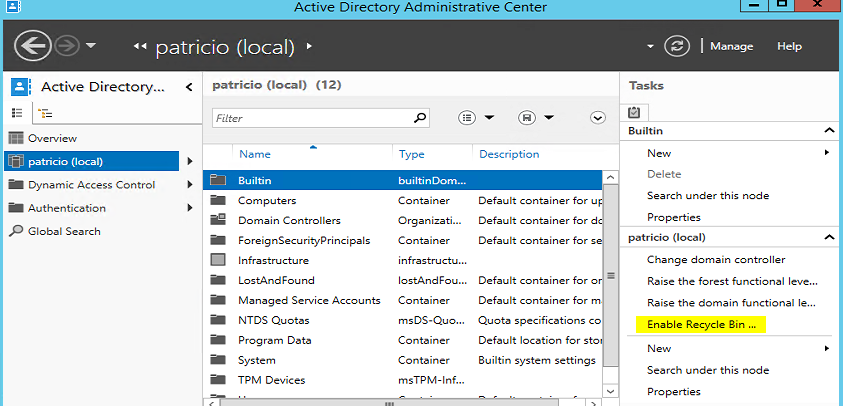 active-directory-admin-center