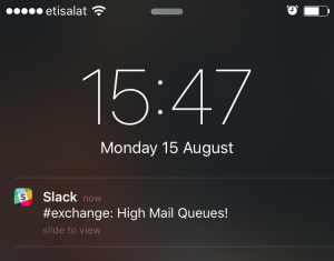 Slack Message Notification on mobile phone
