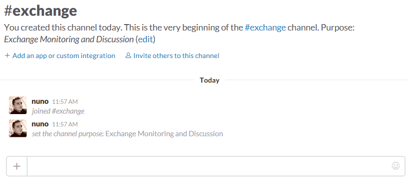 Slack Exchagne Channel