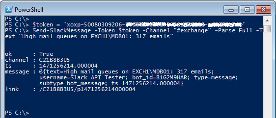 Sending First Slack Message with PowerShell