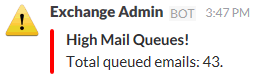 Monitoring Exchange Mail Queues
