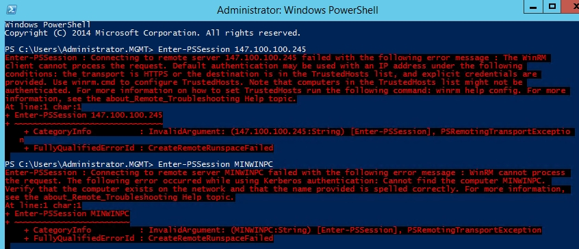 PowerShell error messages