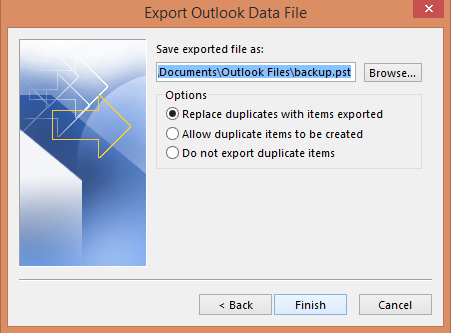 export-outlook-data