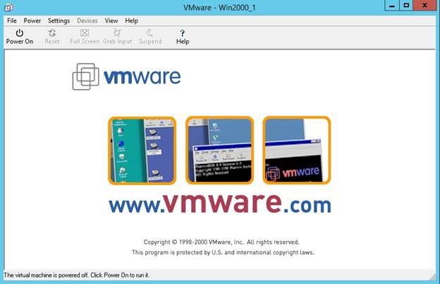 A VMware virtual machine