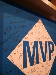 I just had to sign the MVP board.