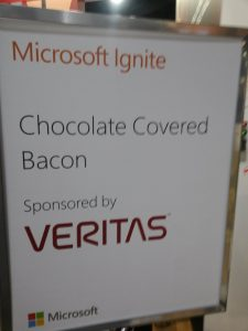 Attendees were treated to chocolate covered bacon.