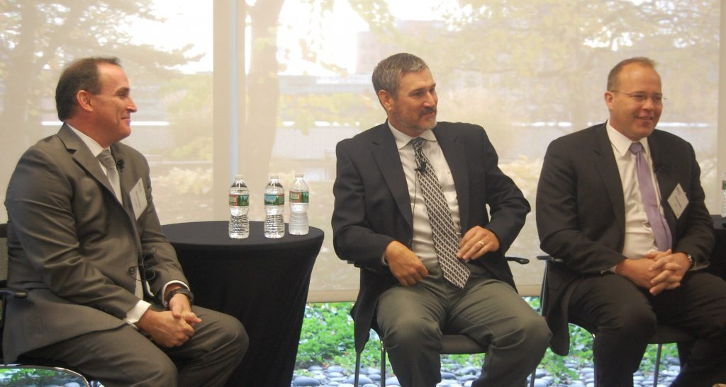 From left to right: Richard Puckett of GE Digital, Michael Papay of Northrop Grumman, and Michael Darling of PwC