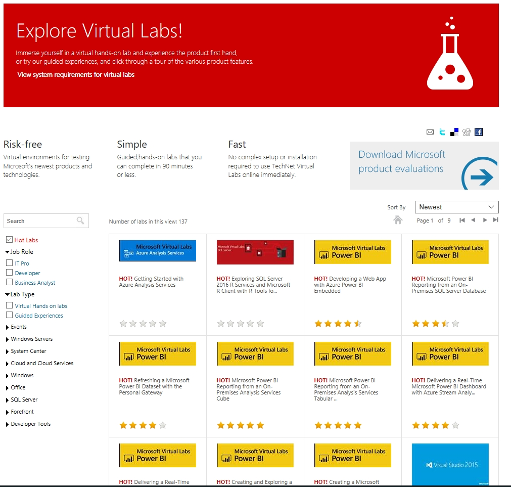 I abuse Microsoft Virtual Labs, and that's a good thing