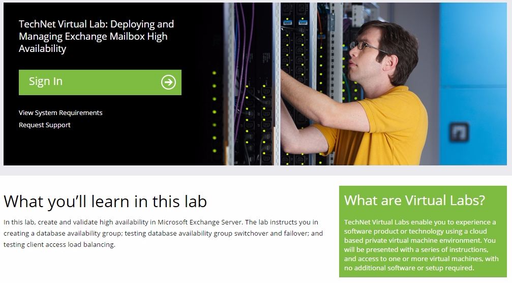 TechNet Virtual Lab