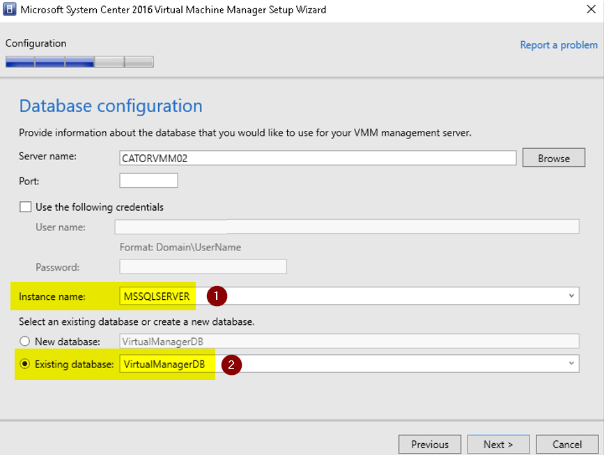 Upgrading System Center VMM from 2012 R2 to 2016