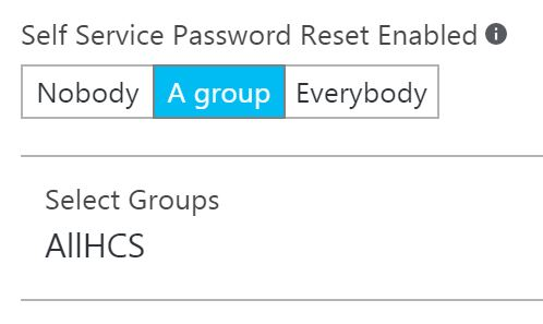 Azure password reset