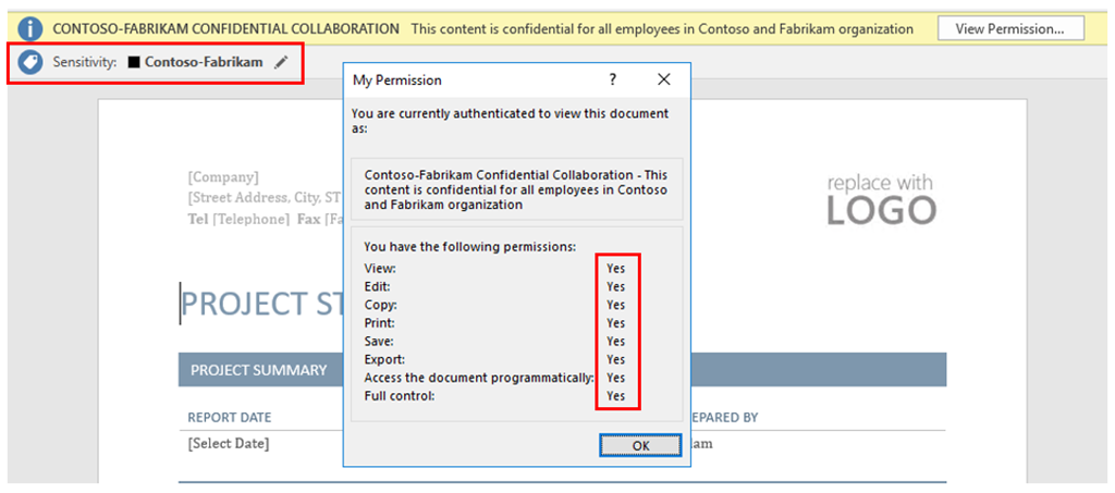 Company collaboration in Azure Information Protection