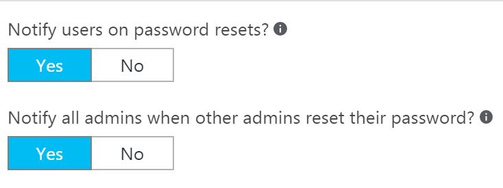 Azure password alerts