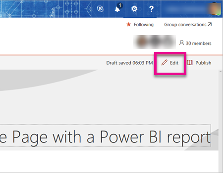 Add Power BI web part to SharePoint page