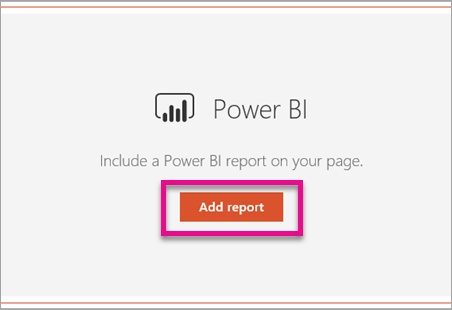 Add Power BI report