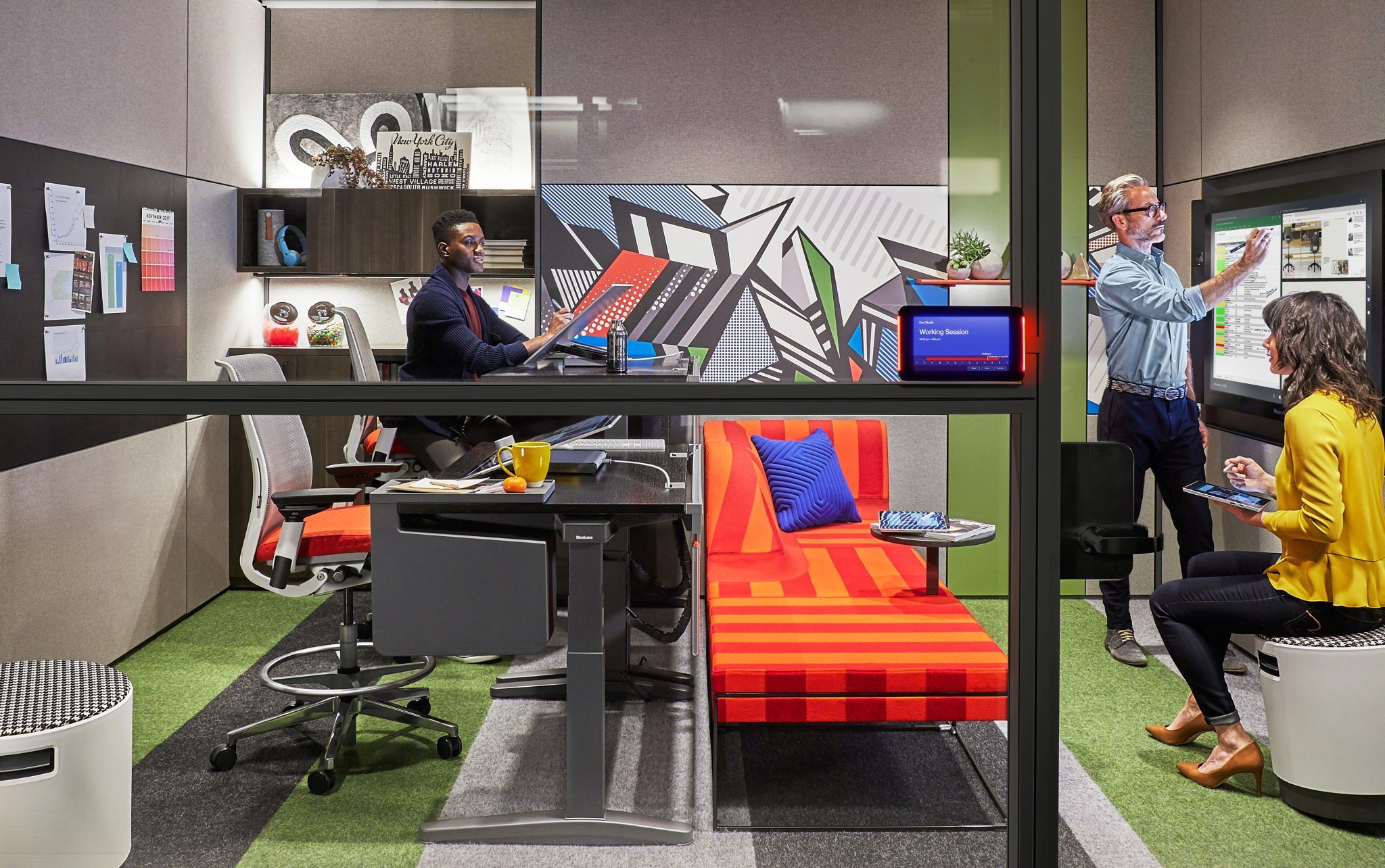 "microsoft and steelcase present ""creative spaces"" to revolutionize"