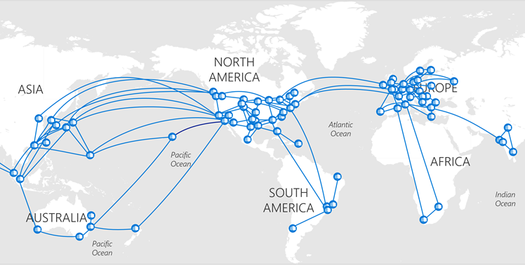 Microsoft's wide-area network