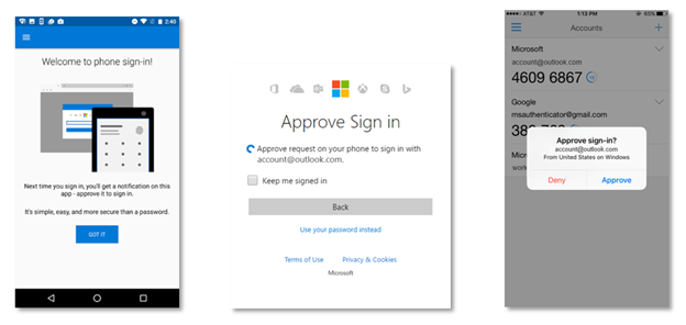 Microsoft account sign-in