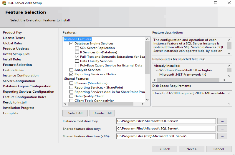 Installing SQL Server 2016 to support Operations Manager