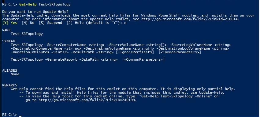 Storage Replica: Validating with PowerShell