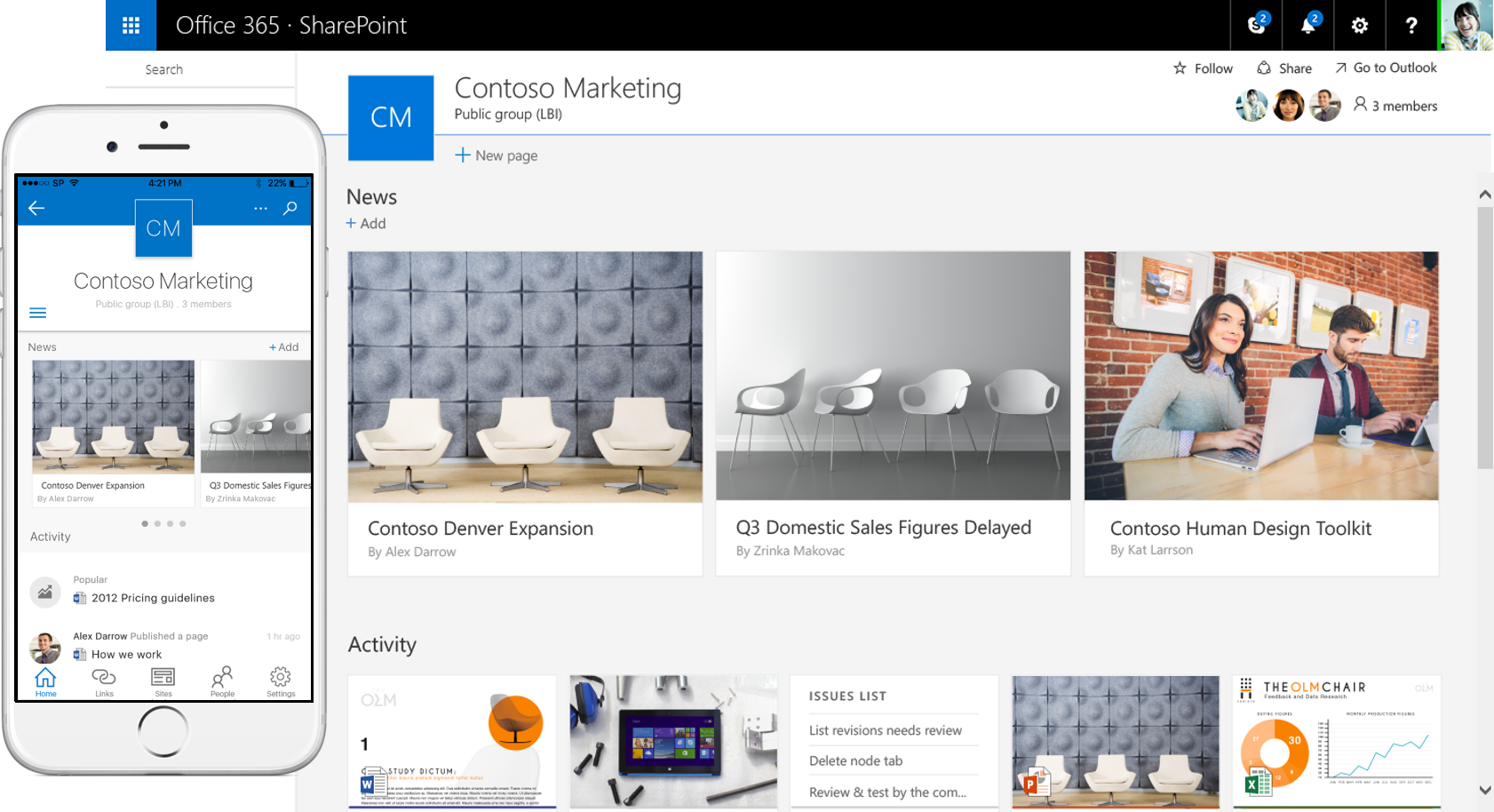sharepoint and onedrive