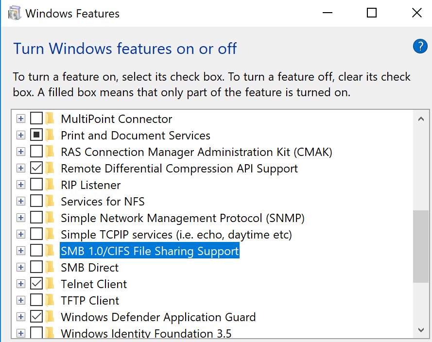 Tightening up Windows 10 security settings