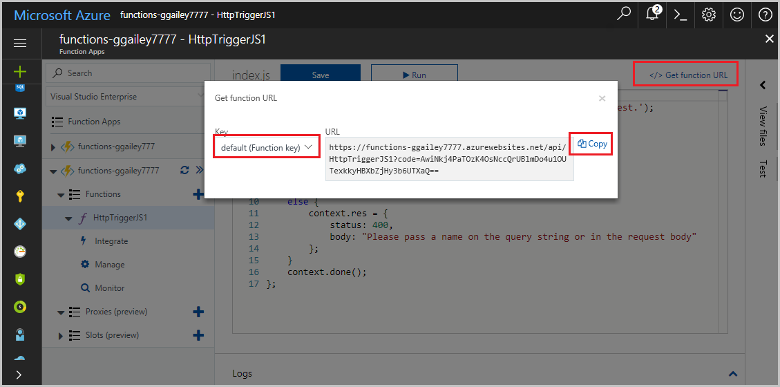 azure functions features