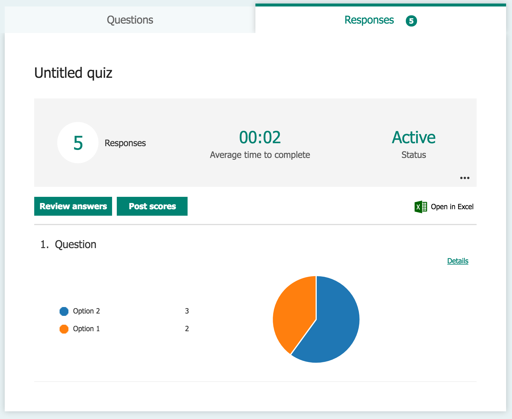 Create online forms and quizzes using Microsoft Forms for