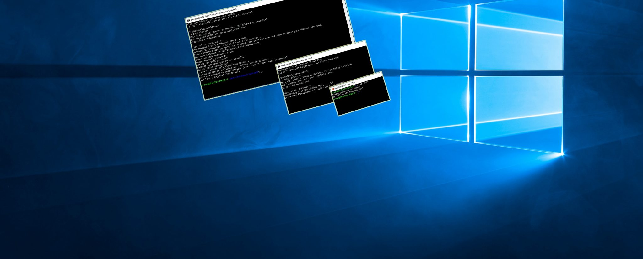 Bash on Windows 10