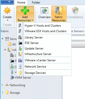 Add new Network Service resource in VMM
