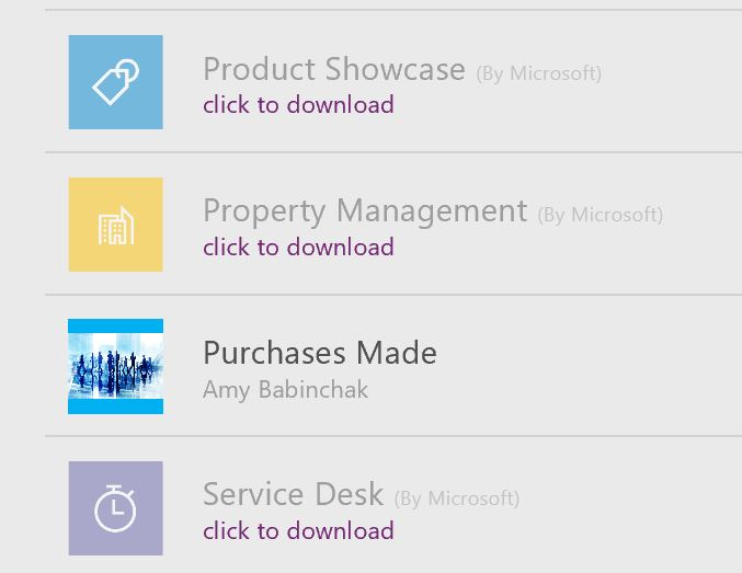 Custom PowerApps mobile application