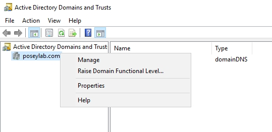 Raise domain functional level
