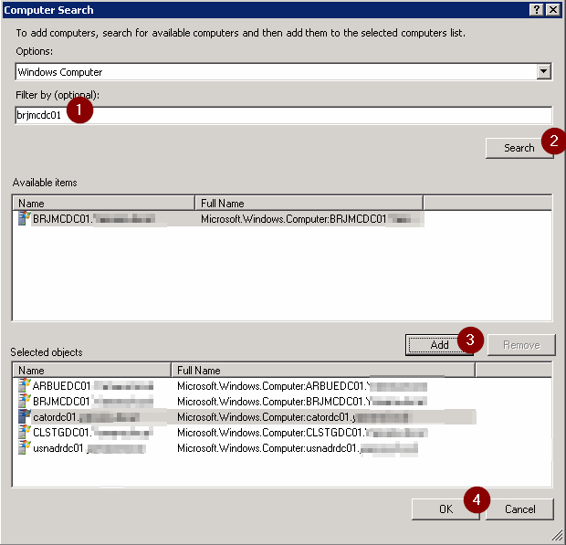Configure agents to send information to OMS