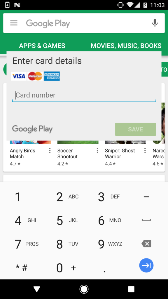 Bankbot steals your credit card info when trying to use the Google Play Store