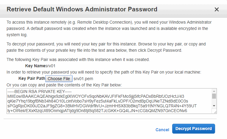 Retrieve default Windows administrator password