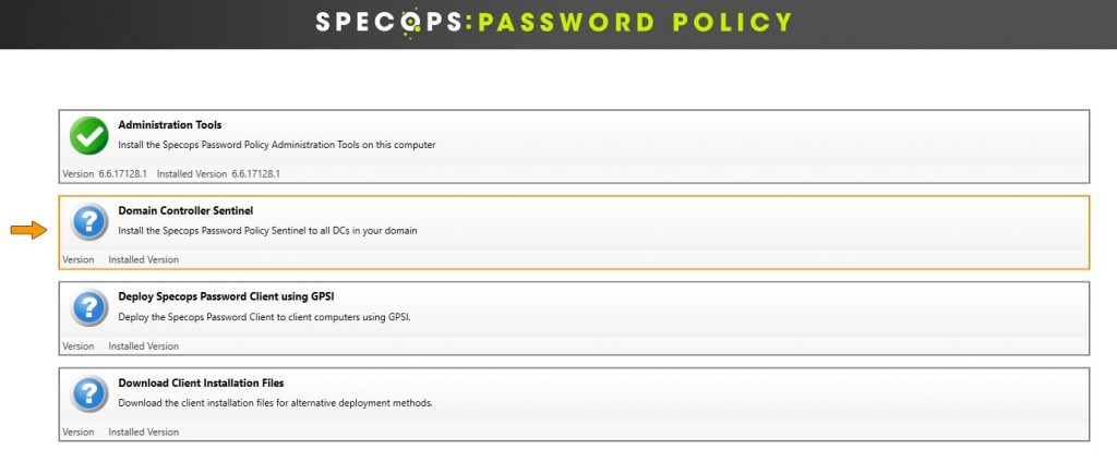 This is the Specops Password Policy installation wizard.