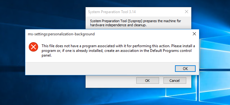 How to run Sysprep on Windows 10