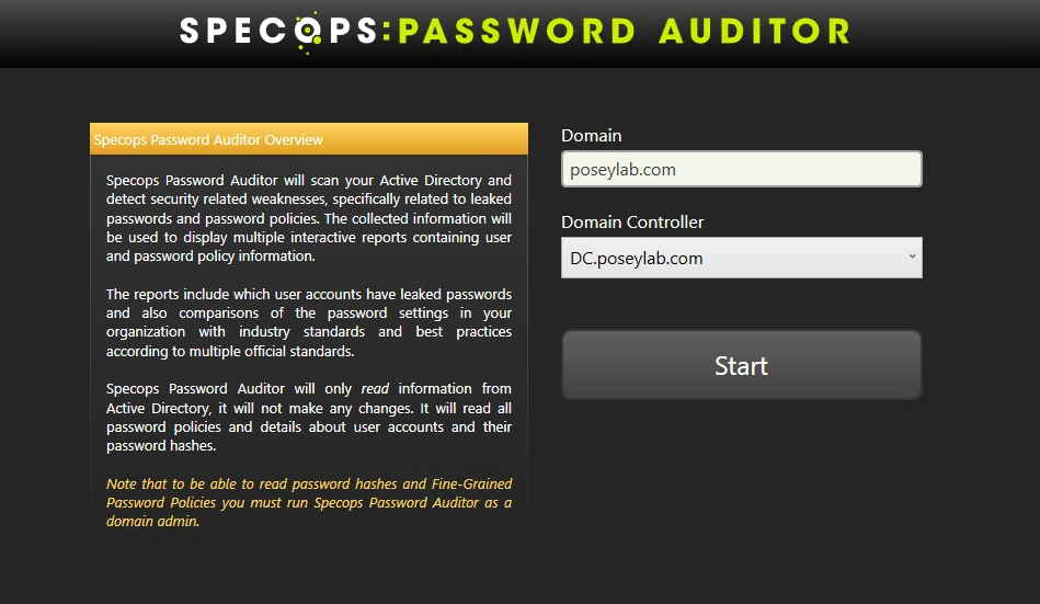 Specops Password Auditor