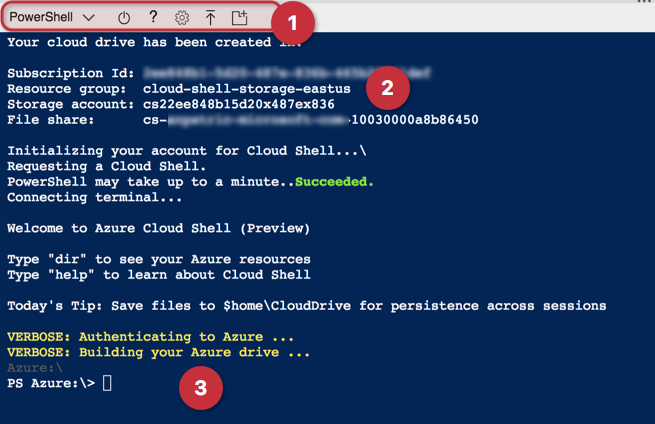 azure cloud shell