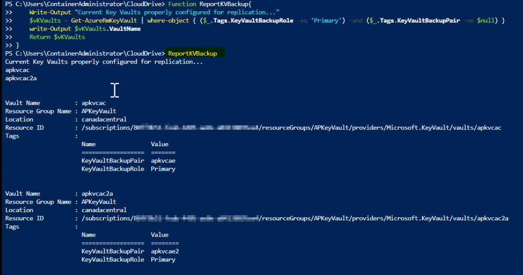 Azure Key Vault: Step-by-step guide to perform simple backup