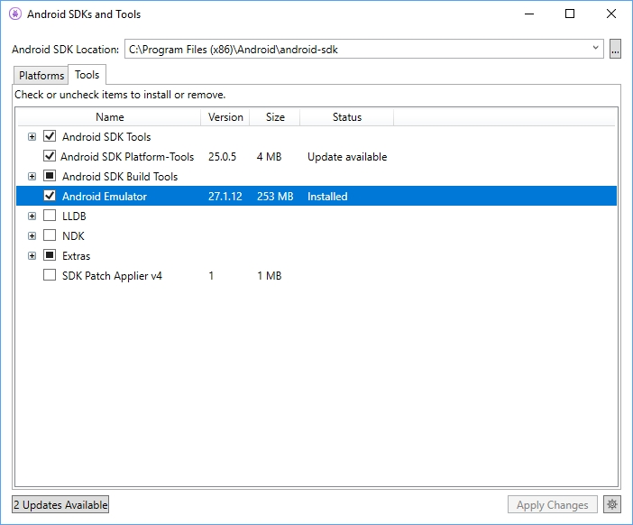 Running an Android emulator on Hyper-V in Windows 10