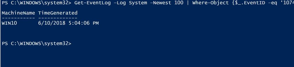 powershell one-liner