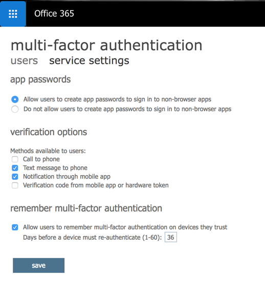 Multifactor authentication: Enabling and managing it using