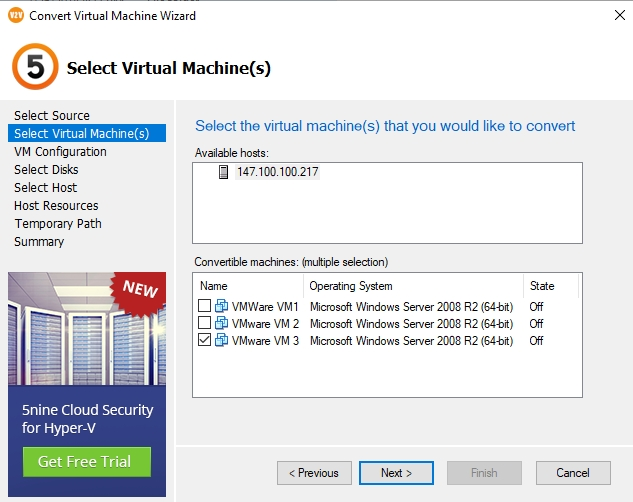 VMware virtual machines