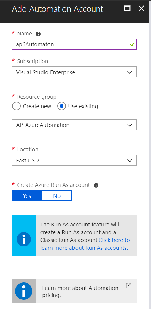Managing Change Tracking feature in Azure Automation