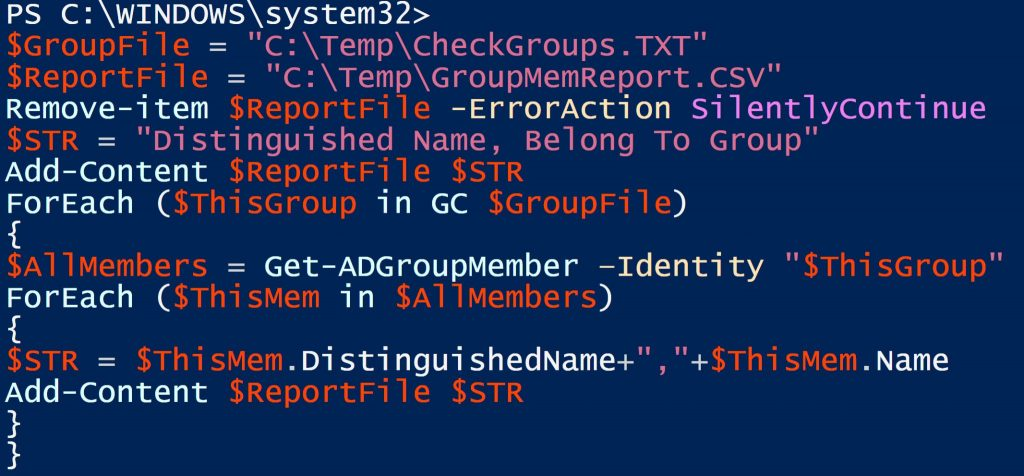 Quick and easy way to get Active Directory group membership