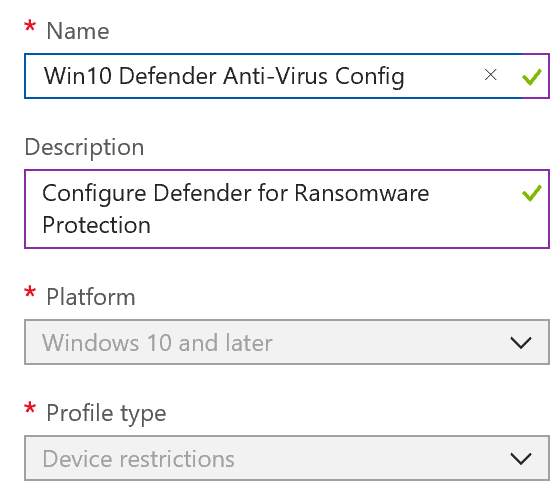Defender anti-virus policy