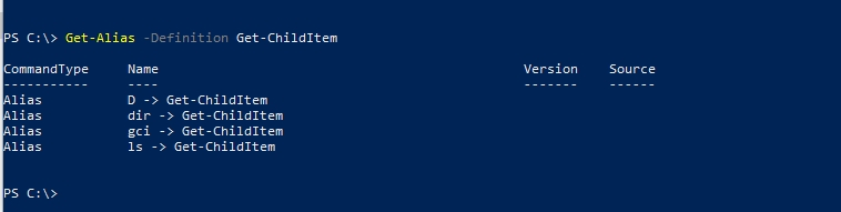 PowerShell aliases