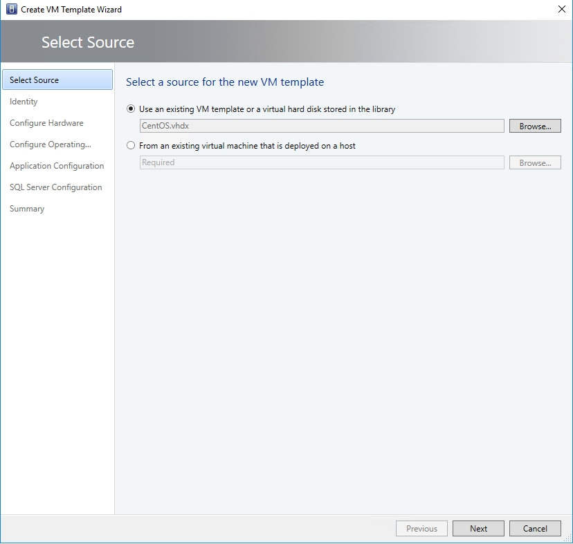 Create a Linux VM template in System Center Virtual Machine