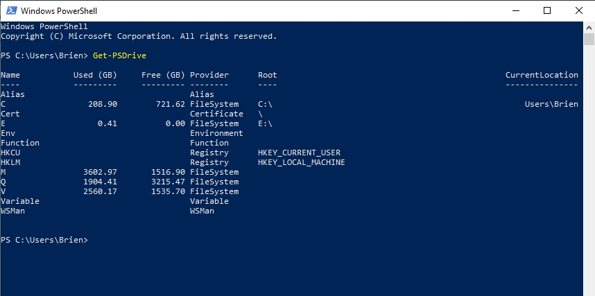 Think beyond the letter: Navigating drives with PowerShell